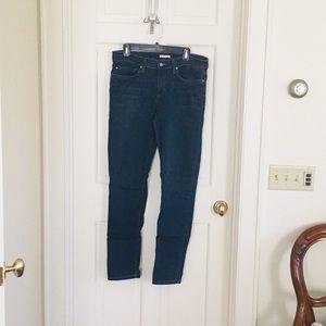 Eileen Fisher blue denim skinny jeans